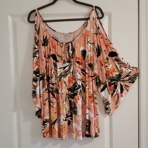Orange/Green Floral Tunic